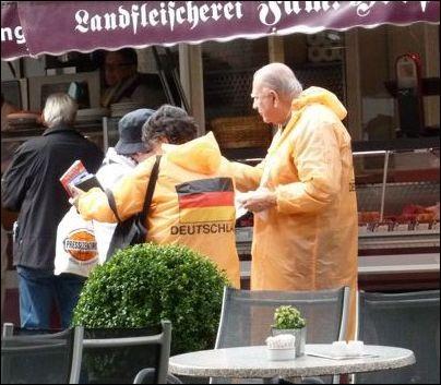 Deutschland-Fans in Lübeck