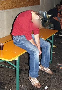 Betrunkener Reichsbürger