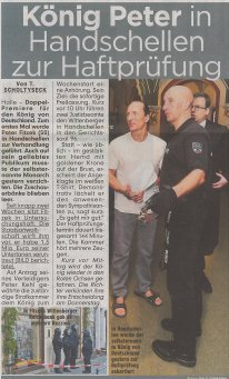Peter Fitzek im Gefängnis