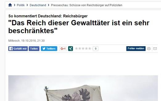 Reichsbürger tötet Polizisten