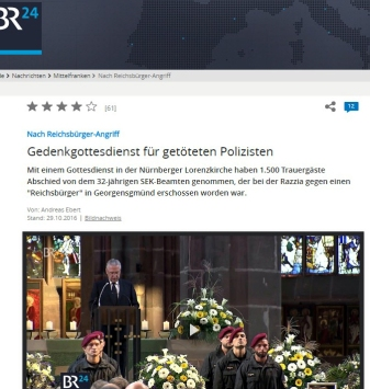 Polizistenmord in Franken, Reichsbürger