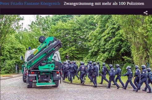 Peter Fitzek und Königreich Deutschland geräumt und am Ende